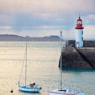 Boote im Hafen Erquy Hafen Winter 4168