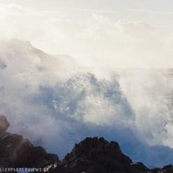 Wellen im Sturm