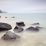 Küste im Nebel