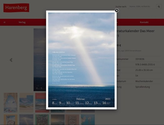 Bildkalender Das Meer