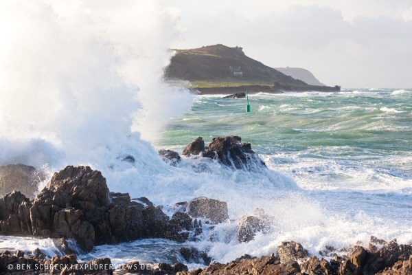 Normandie Küste im Sturm 3667