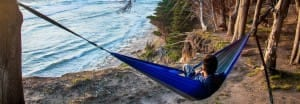 hammock camping by the ocean