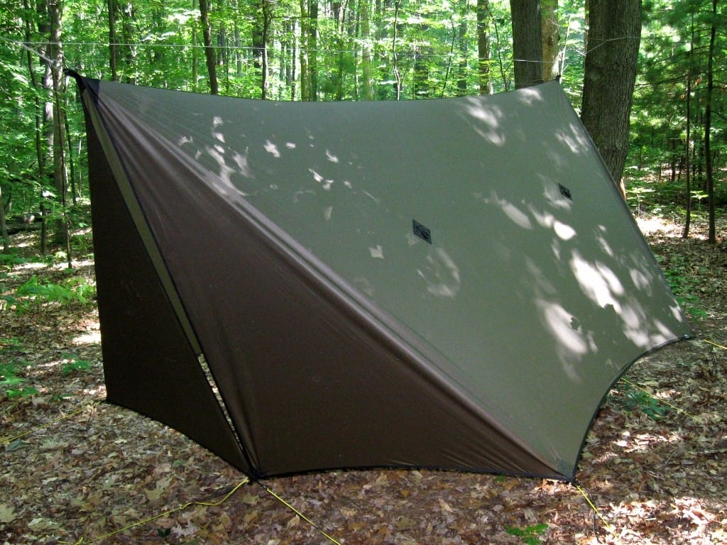 Full coverage all weather hammock rain fly tarp