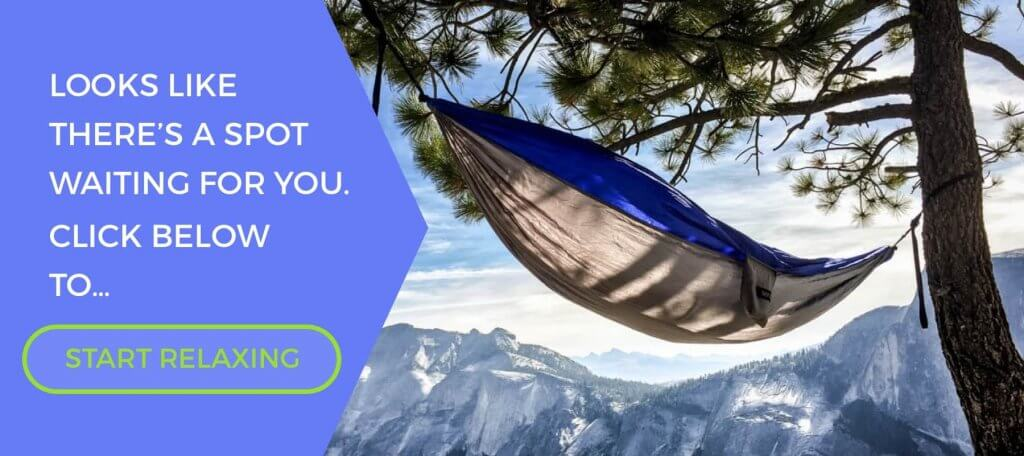 Camping and backpacking hammock advertisement