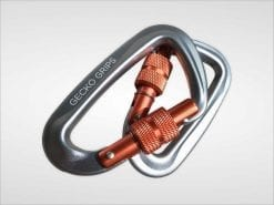 serac hammock ultralight aluminum lockgate screwing carabiner