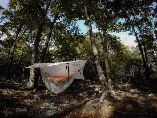 serac sequoia double camping hammock with tarp rain fly and bug mosquito net
