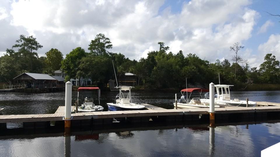 The docks at Steinhatchee Landing Resort