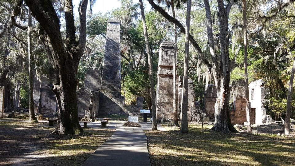 sugar mill ruins at Bulow Plantation Historic Ruins State Park