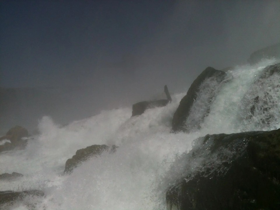 Cascading waters over Niagara Falls USA