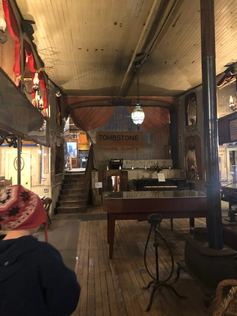 Tombstone, one of the best places to visit in Arizona, shows the inside of an old saloon