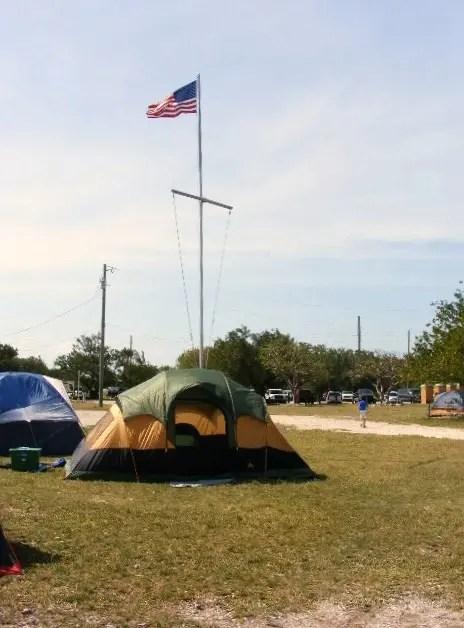 camping tent at Sugarloaf Key