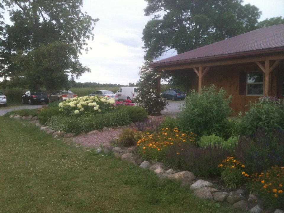 shows the front of a winery in one of the many upstate New York towns