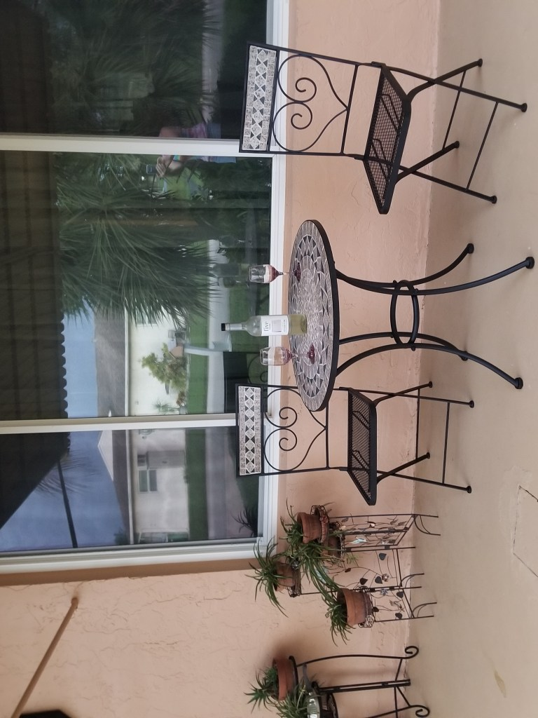 outdoor bistro area for balmy nights while living in south Florida