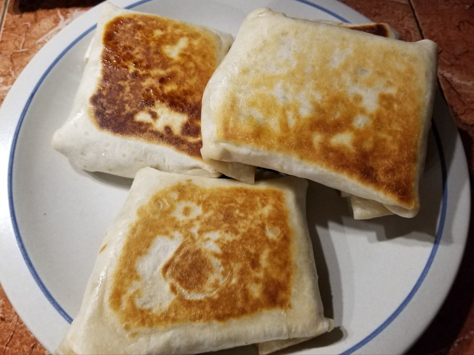 chimichangas made from picadillo