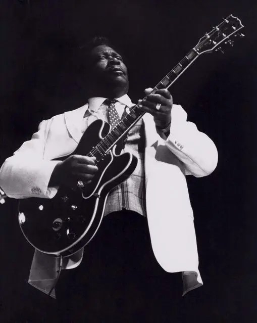 Photo of one of the important black people in history of the blues, BB King