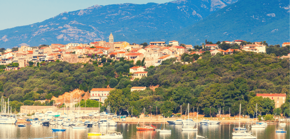View of Corsica a site for ideal family vacations