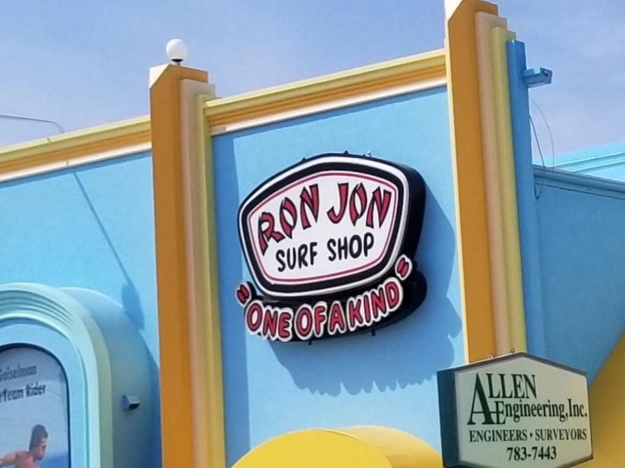 Store front of Ron Jon's Surf Shop off  Islands of Florida