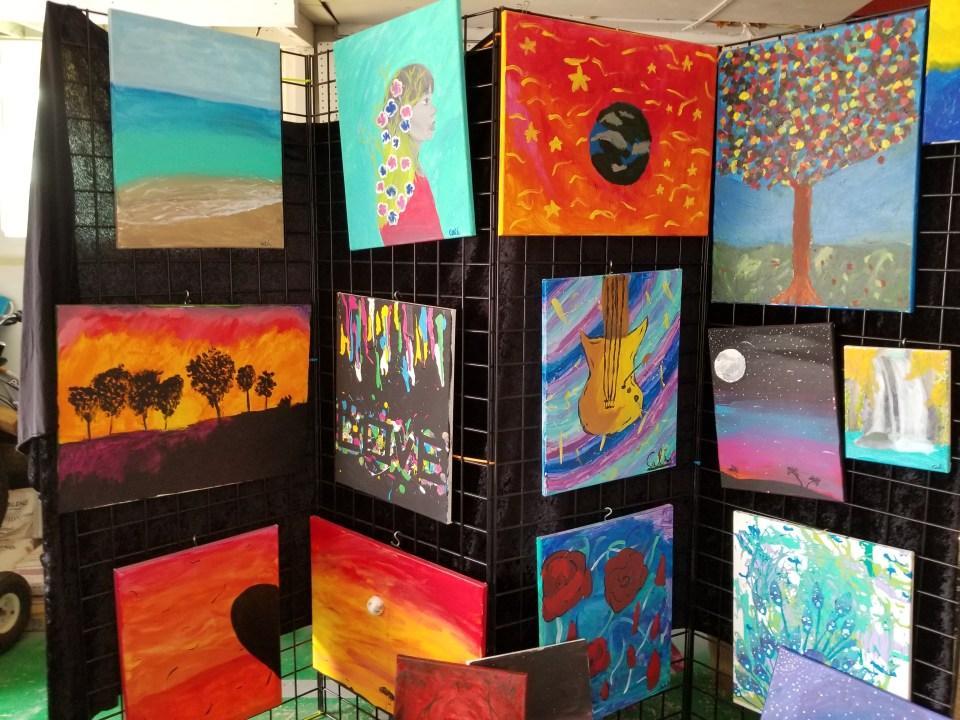 improvised art gallery to hide storage