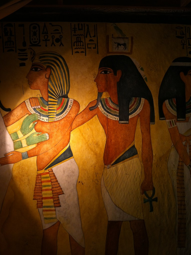 Egyptian frescos of people located at Busch Gardens FL