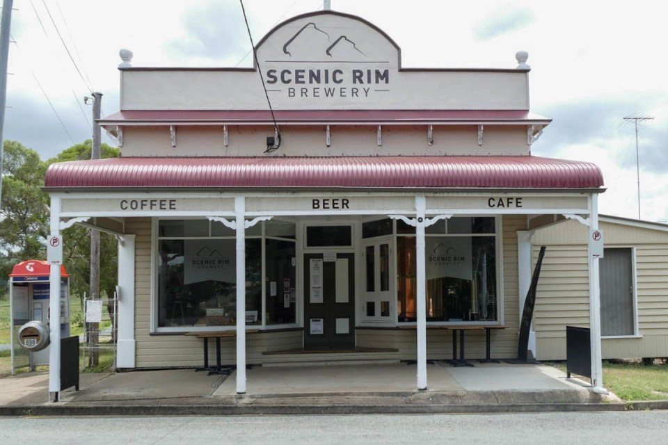 Shows the front of a brewery in Australia