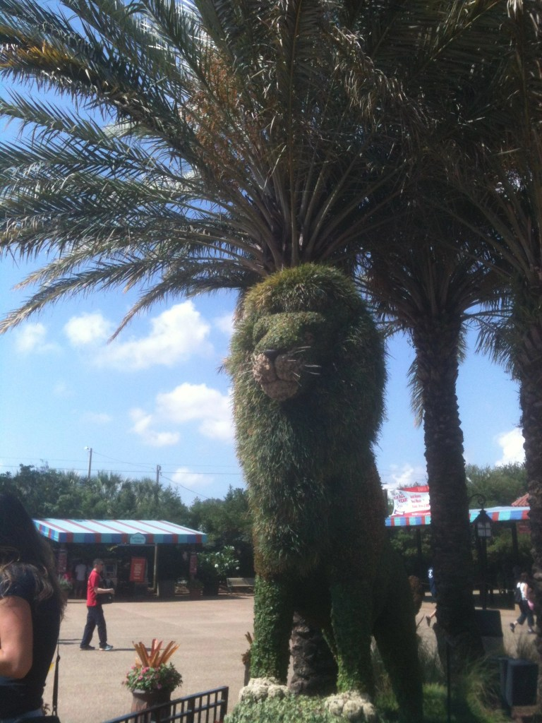 topiary ion at Busch Gardens FL