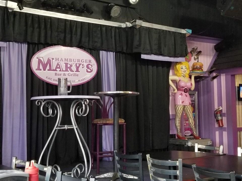 statue of a trans star at Hamburger Mary's