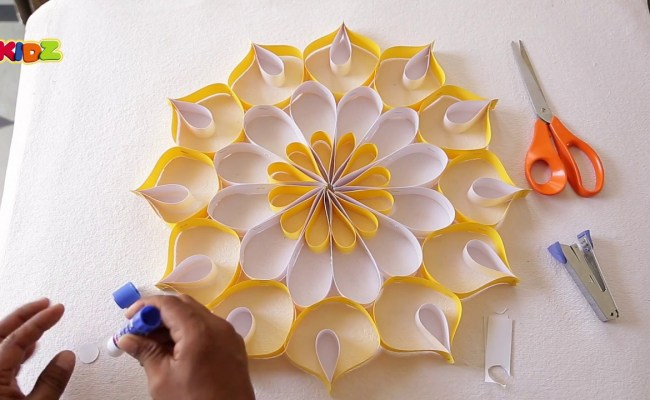How To Make A Wall Decoration With Colorful Papers
