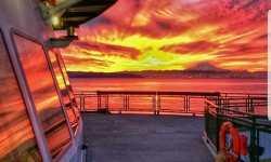 Explore Vashon Island sunrise. Taken by Washington State Ferry Worker
