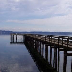 Tramp Harbor Dock on Vashon Island Washington