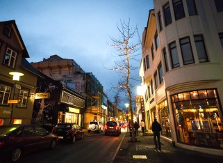 Downtown reykjavik night life street art