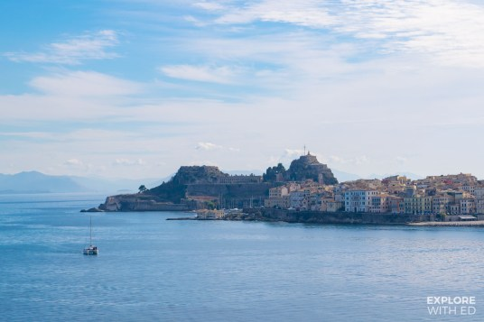 View of Corfu in Greece by day