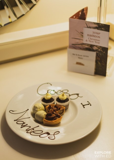Welcome treats from Nanteos Mansion