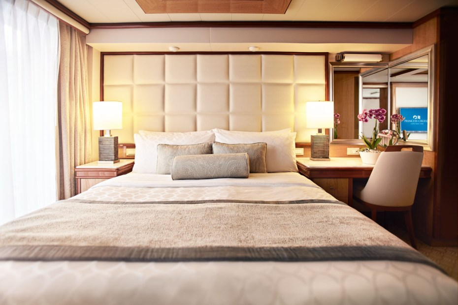 Princess Cruises have some of the most comfortable beds at sea. Image supplied by Princess Cruises.