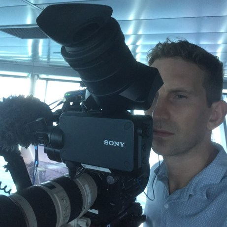 David Sanders of Princess Cruises UK behind the scenes of The Cruises on ITV