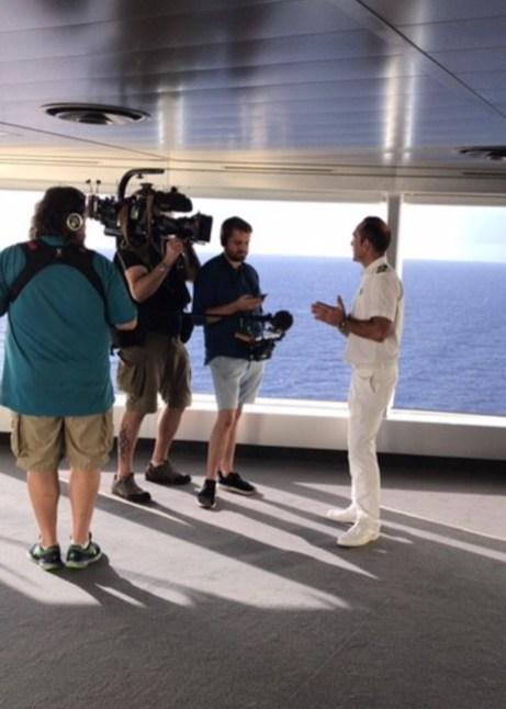 Filming a documentary onboard MSC Seaside