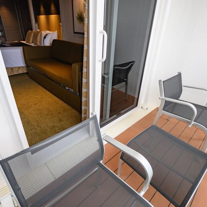 A balcony cabin on MSC Bellissima