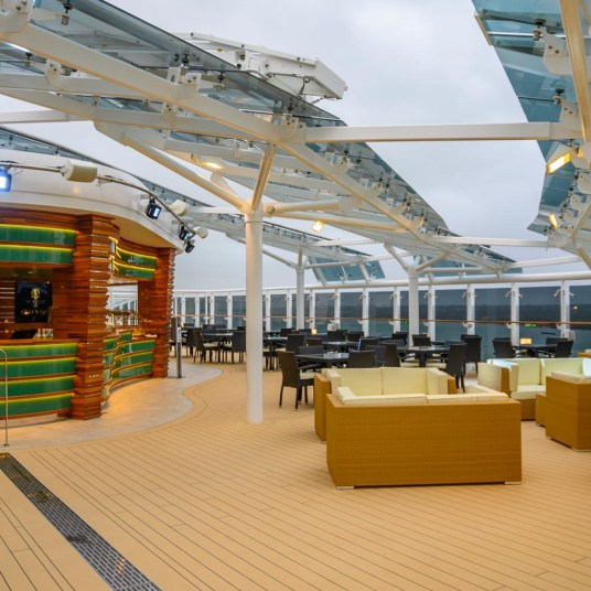 MSC Bellissima Yacht Club private deck area