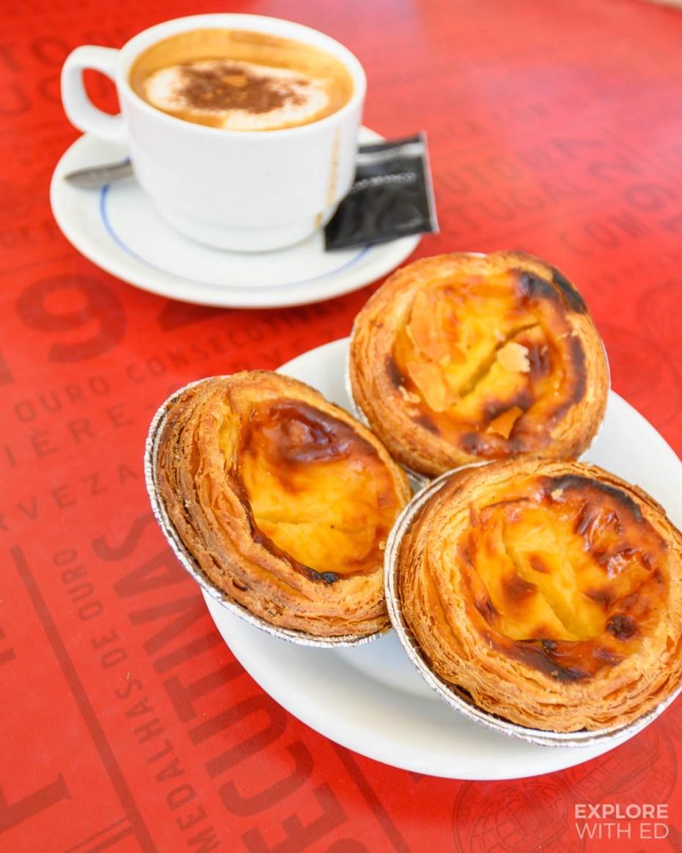 """Portuguese custard tarts """"pasteis de nata"""" in Fatima"""