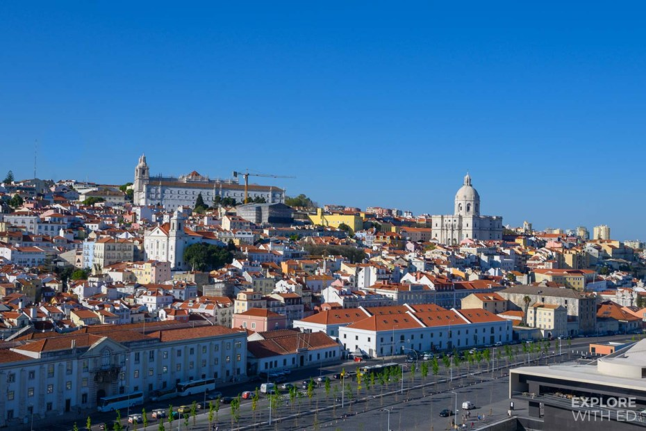 A view of Lisbon, Portugal from the cruise ship dock