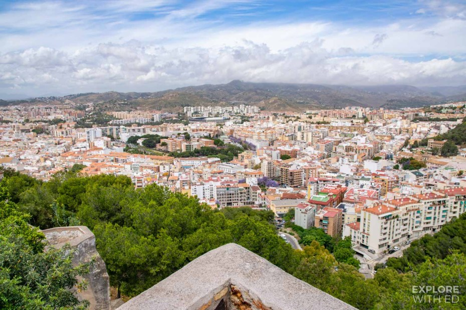 Panoramic view over Malaga from Castle Gibralfaro - epic photo spot