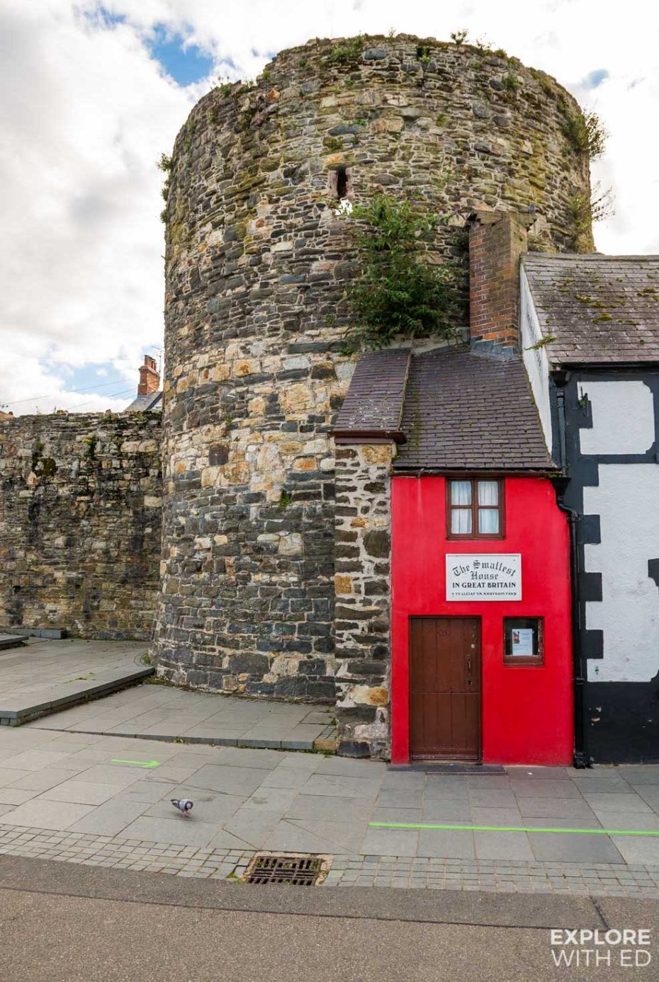 The smallest house in Great Britain in Conwy, Wales