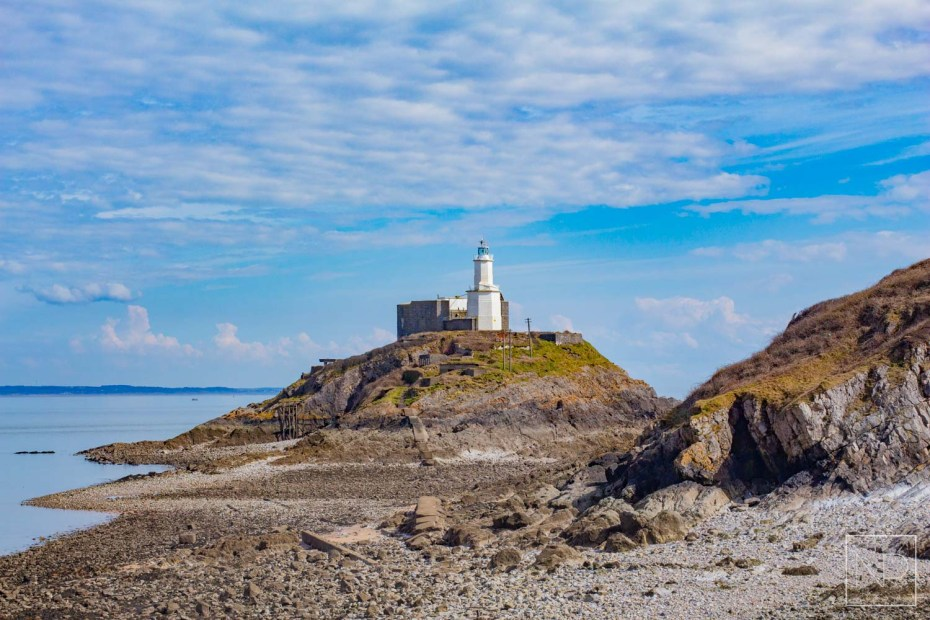 Mumbles Lighthouse in Swansea, Wales