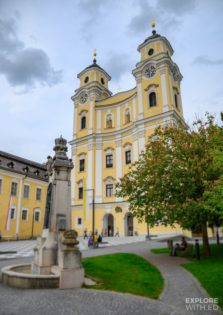 The church in Mondsee using for the Wedding scene in The Sound of Music