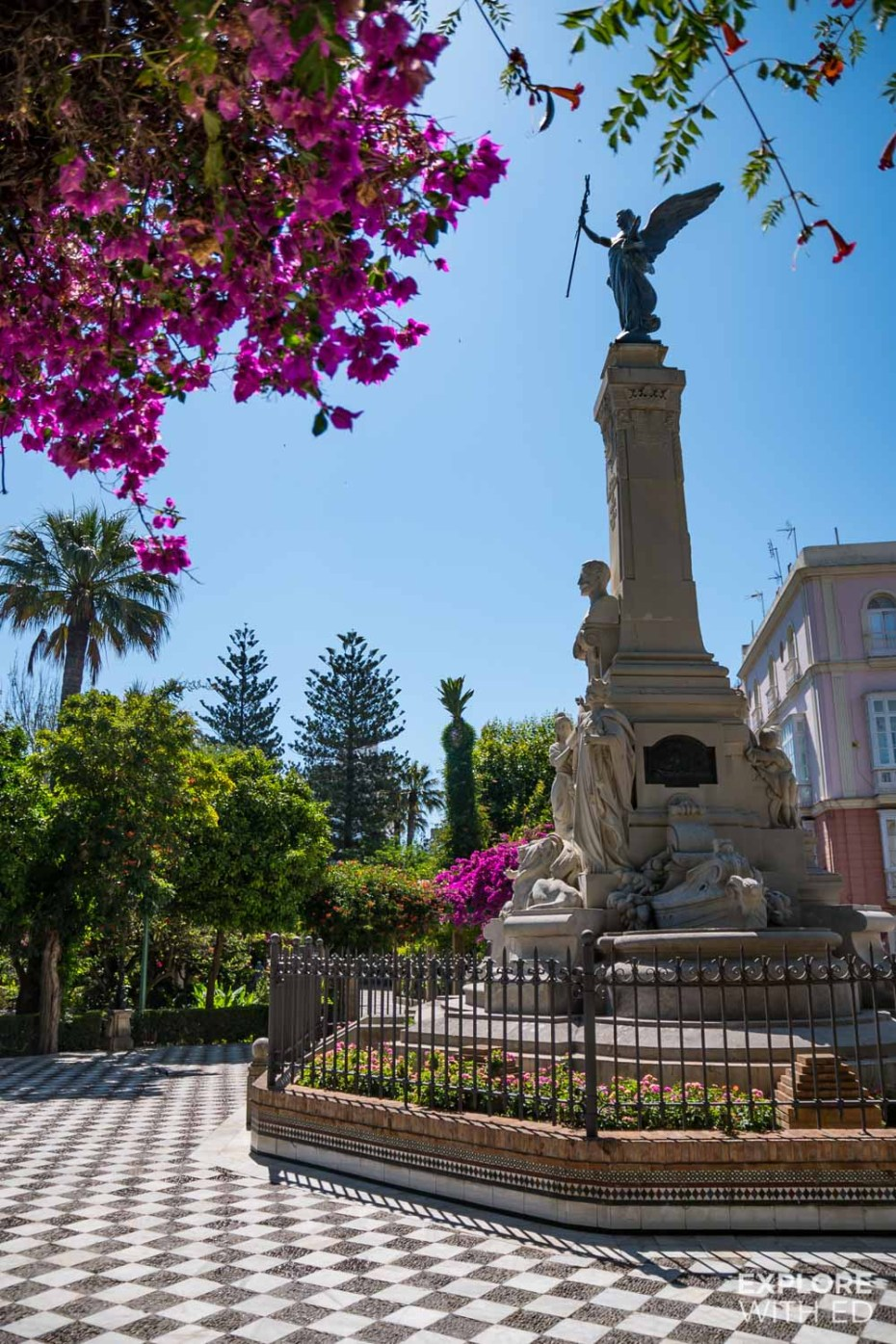 Colourful gardens of Alameda Apodaca