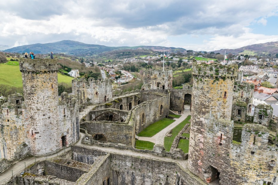 View across Conwy Castle