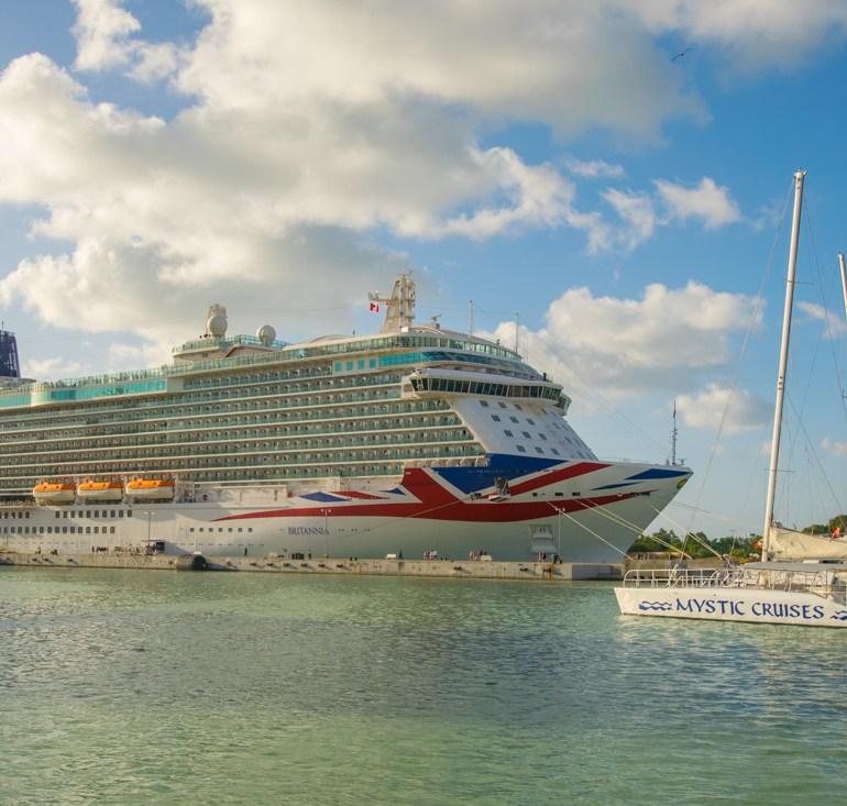 P&O Britannia docked in Antigua