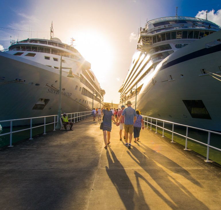 Cruise ships docked in Antigua