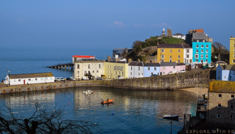 The seaside holiday town of Tenby in Wales