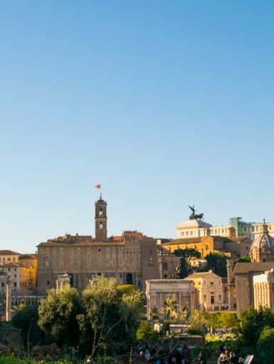 Self guided walking tour of the Roman Forum in Rome