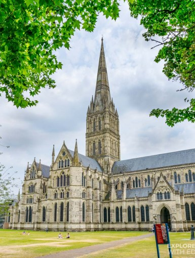 Salisbury Cathedral in Wiltshire, England